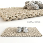 carpet and slippers 3d model