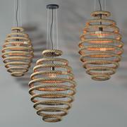 lámpara colgante loft Country modelo 3d