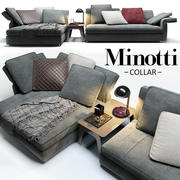 Sofa Minotti Collar 3d model