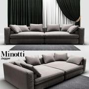 Canapé Minotti Jagger 3d model