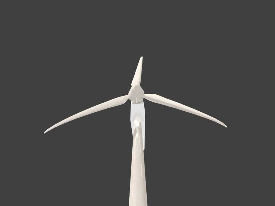ветровая турбина royalty-free 3d model - Preview no. 5