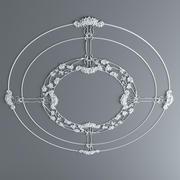 石膏花环 3d model