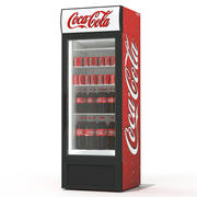 Coca cola beverage fridge 3d model