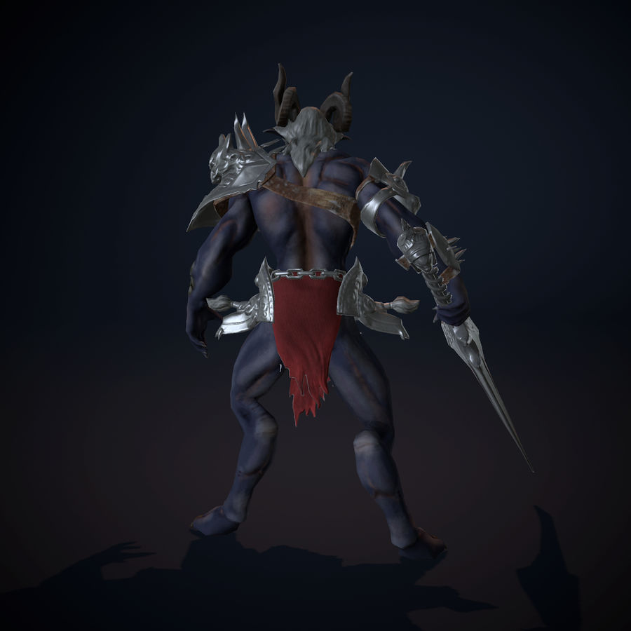 キャラクター悪魔 royalty-free 3d model - Preview no. 5
