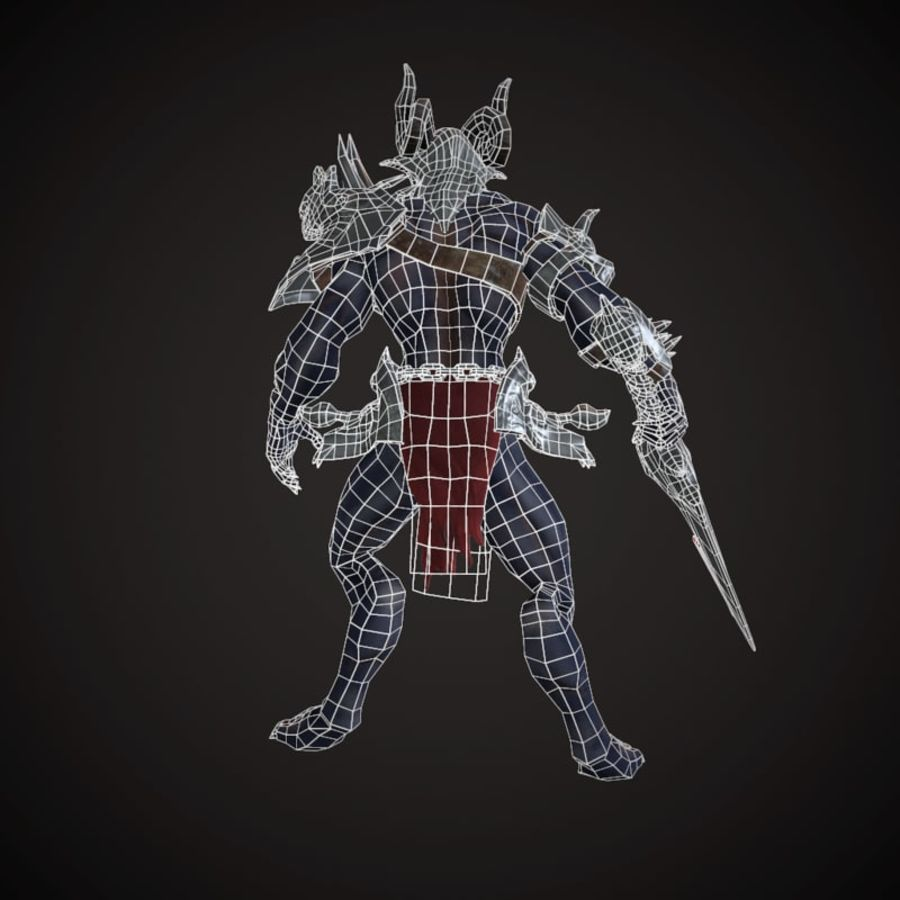 キャラクター悪魔 royalty-free 3d model - Preview no. 8