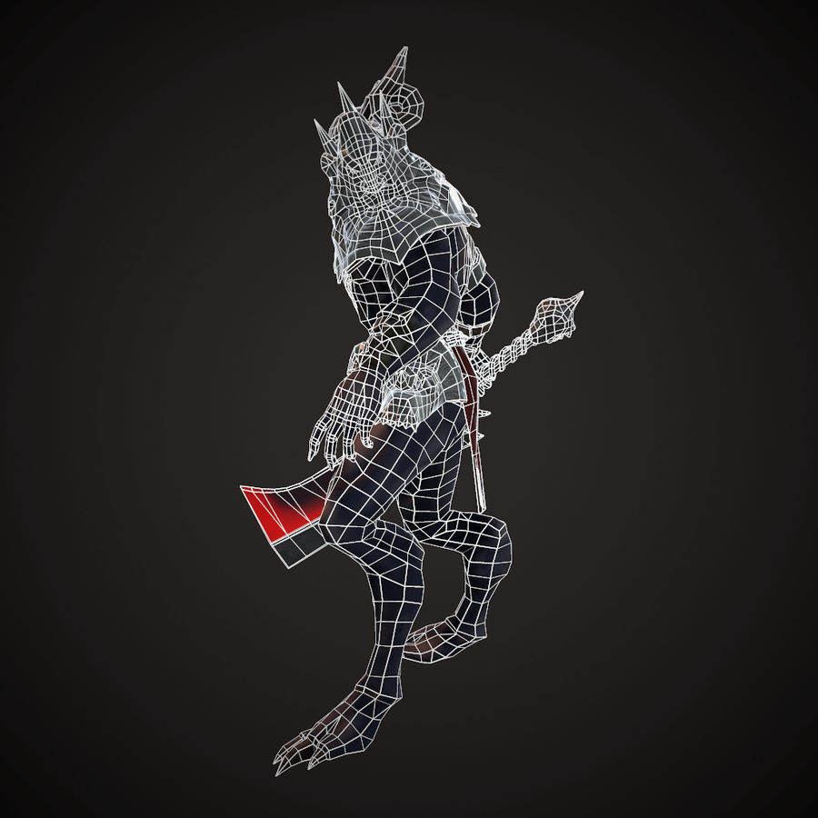 キャラクター悪魔 royalty-free 3d model - Preview no. 7