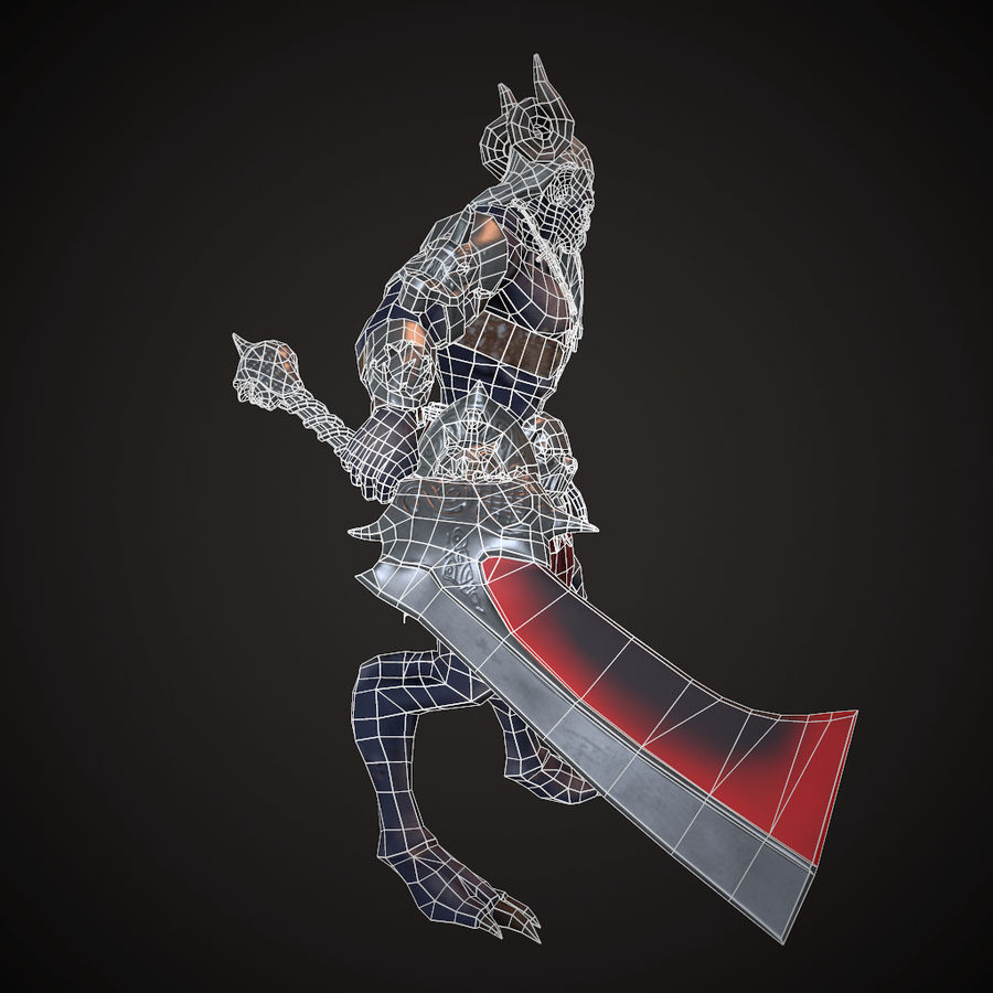キャラクター悪魔 royalty-free 3d model - Preview no. 9
