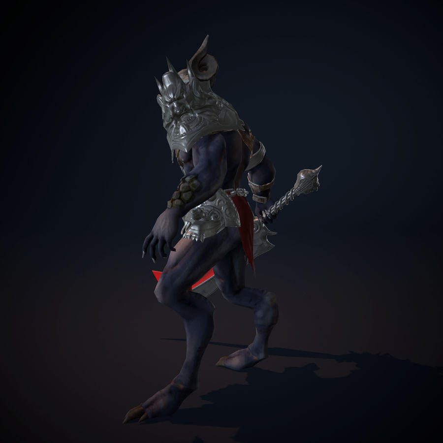 キャラクター悪魔 royalty-free 3d model - Preview no. 3