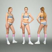 Sportswoman Resting 3d model