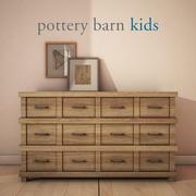 Pottery Barn-OwenExtra-WideDresser 3d model
