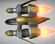 Lowpoly Star Fighter 3d model