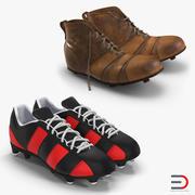 Kolekcja butów piłkarskich 3d model
