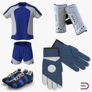 Kolekcja sprzętu piłkarskiego 3d model