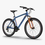 Mountainbike Blau 3d model
