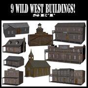 9 edifici del selvaggio West 3d model