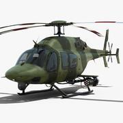 Bell 429 wojskowy 3d model