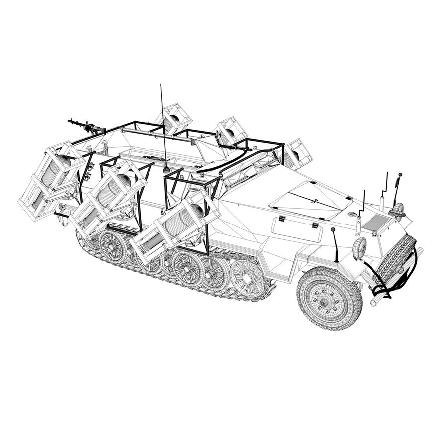 SD.KFZ 251/1 Ausf.B - Walking Stuka - 11PD royalty-free 3d model - Preview no. 14