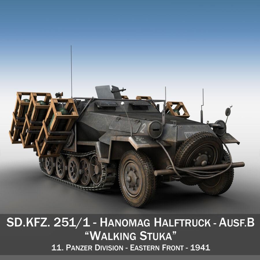 SD.KFZ 251/1 Ausf.B - Walking Stuka - 11PD royalty-free 3d model - Preview no. 1