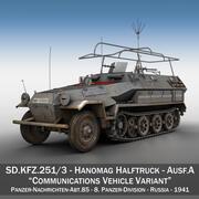 SD.KFZ 251/3 Ausf.A-통신 차량-8.PD 3d model