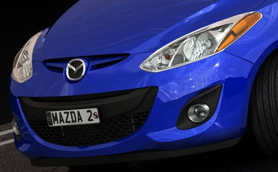 Mazda 2 2010 royalty-free 3d model - Preview no. 13