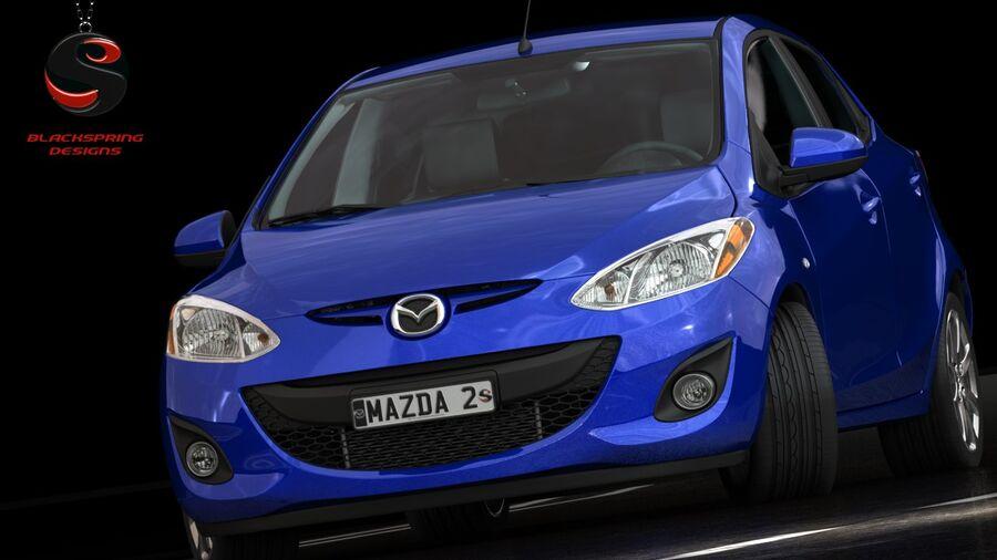 Mazda 2 2010 royalty-free 3d model - Preview no. 3