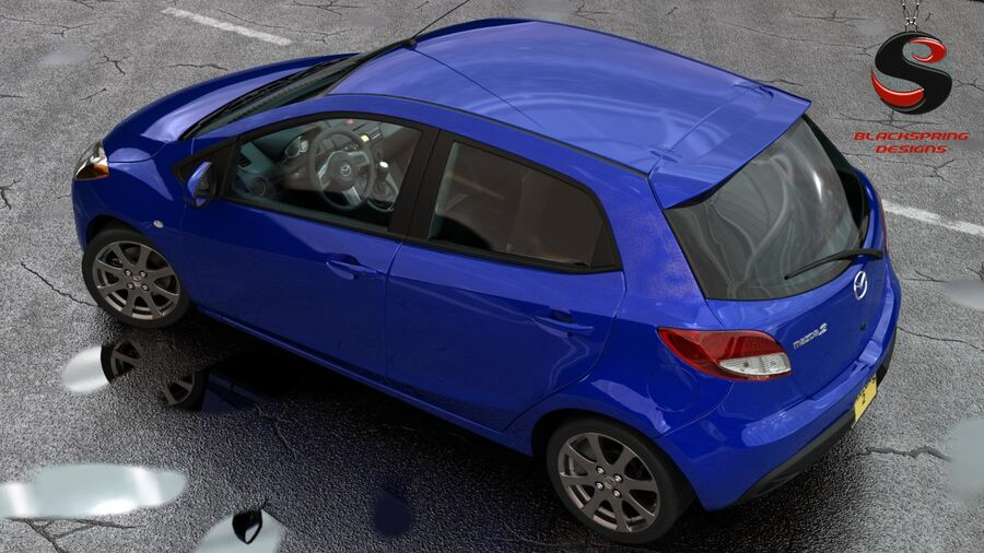 Mazda 2 2010 royalty-free 3d model - Preview no. 5
