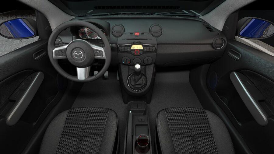 Mazda 2 2010 royalty-free 3d model - Preview no. 12