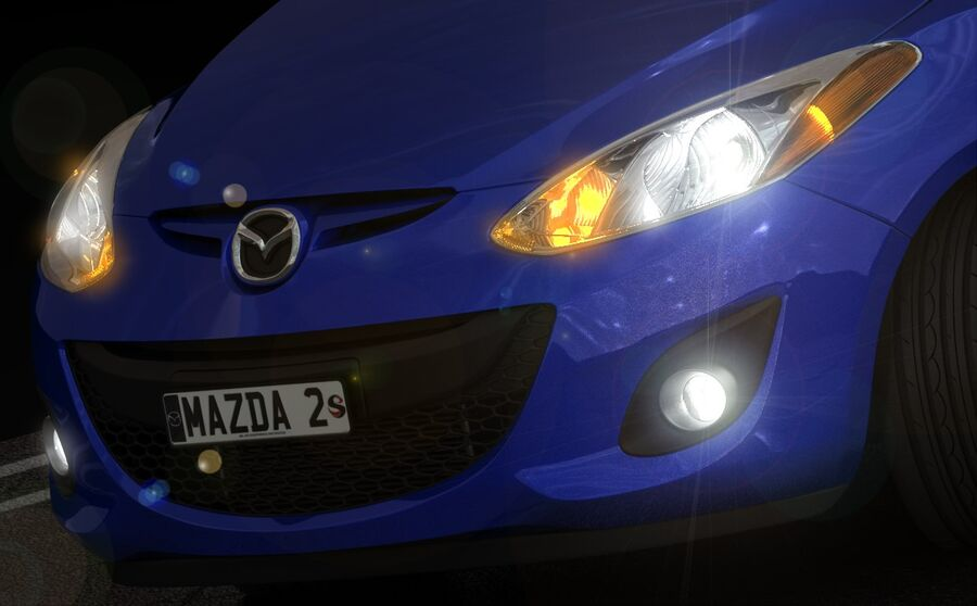 Mazda 2 2010 royalty-free 3d model - Preview no. 14