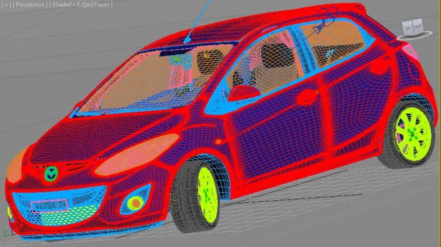 Mazda 2 2010 royalty-free 3d model - Preview no. 20