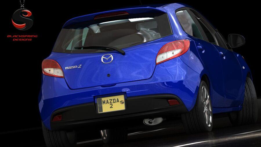 Mazda 2 2010 royalty-free 3d model - Preview no. 6
