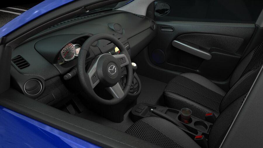 Mazda 2 2010 royalty-free 3d model - Preview no. 10