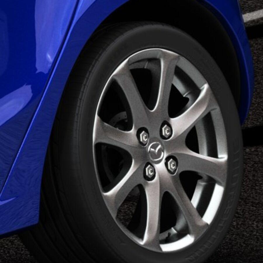 Mazda 2 2010 royalty-free 3d model - Preview no. 15