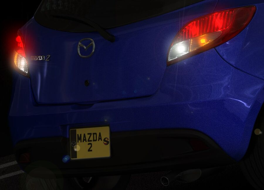 Mazda 2 2010 royalty-free 3d model - Preview no. 17