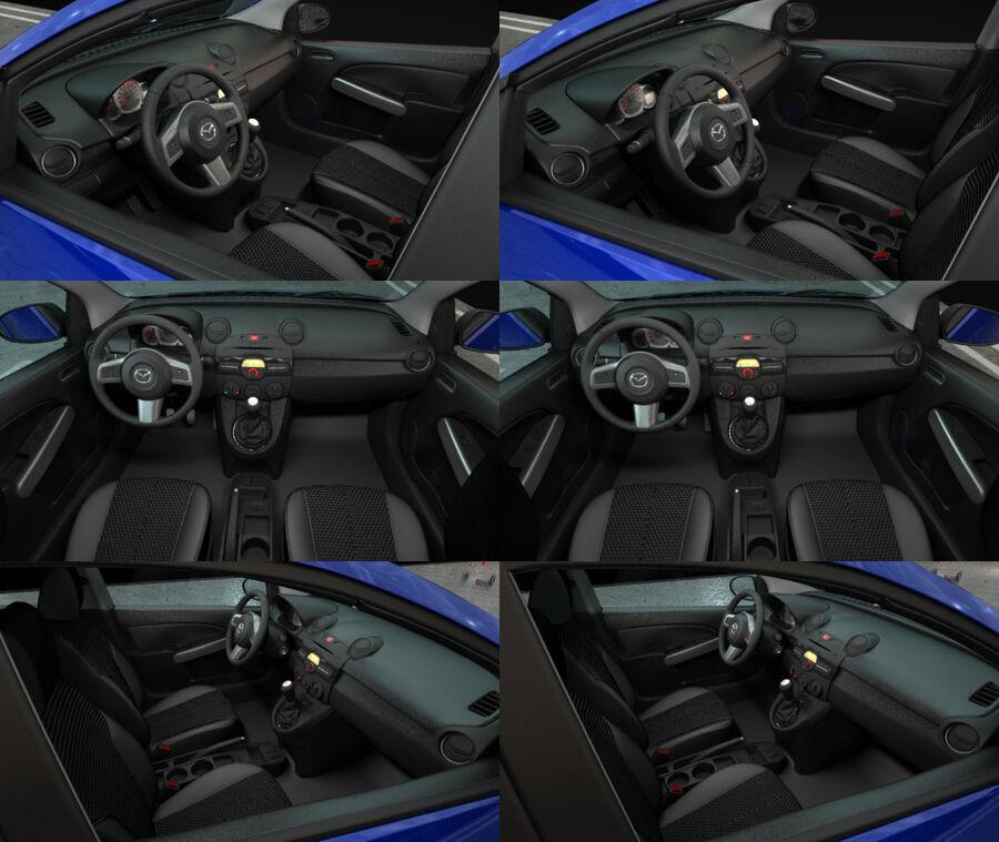 Mazda 2 2010 royalty-free 3d model - Preview no. 19