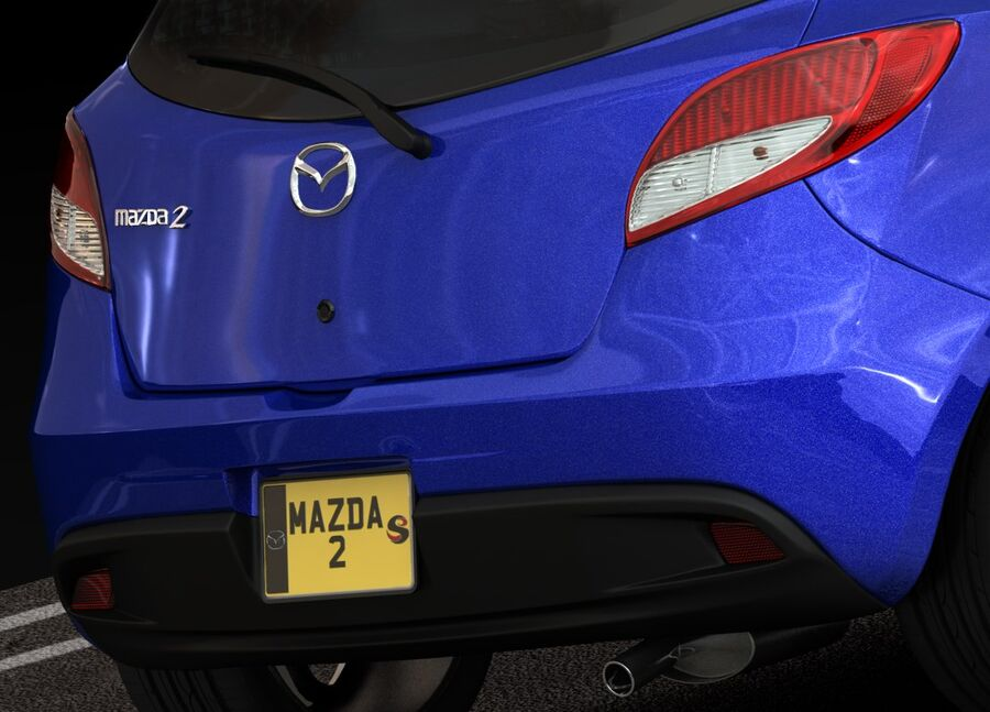 Mazda 2 2010 royalty-free 3d model - Preview no. 16