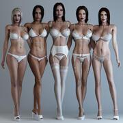 5合1女人(已装配) 3d model