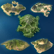 Tropical Island Collection 2 3d model