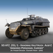 SD.KFZ 251/1 Ausf.C - Half-track - 24PD 3d model