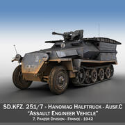 SD.KFZ 251/7 Ausf.C - Assault Engineer Vehicle - 7PD 3d model