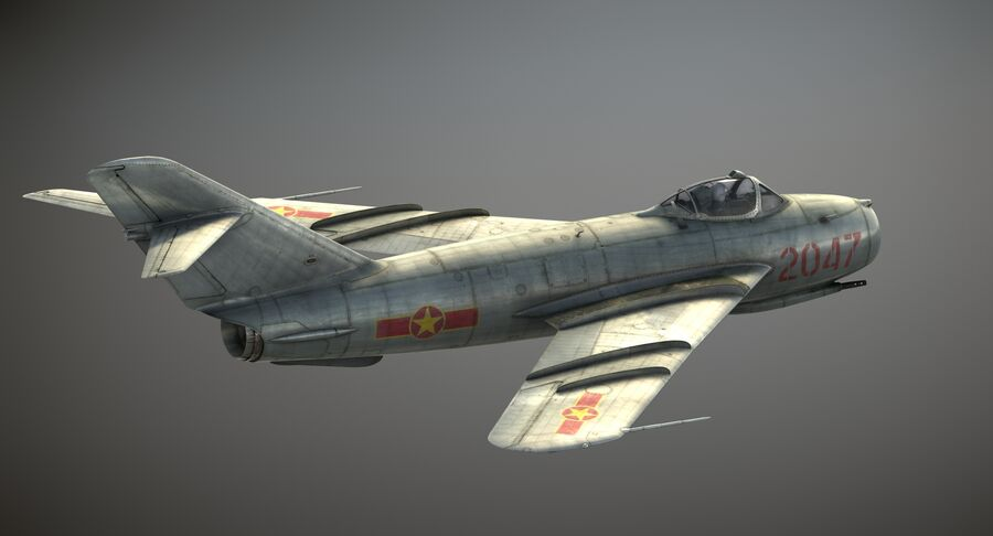 MiG-17F royalty-free 3d model - Preview no. 3