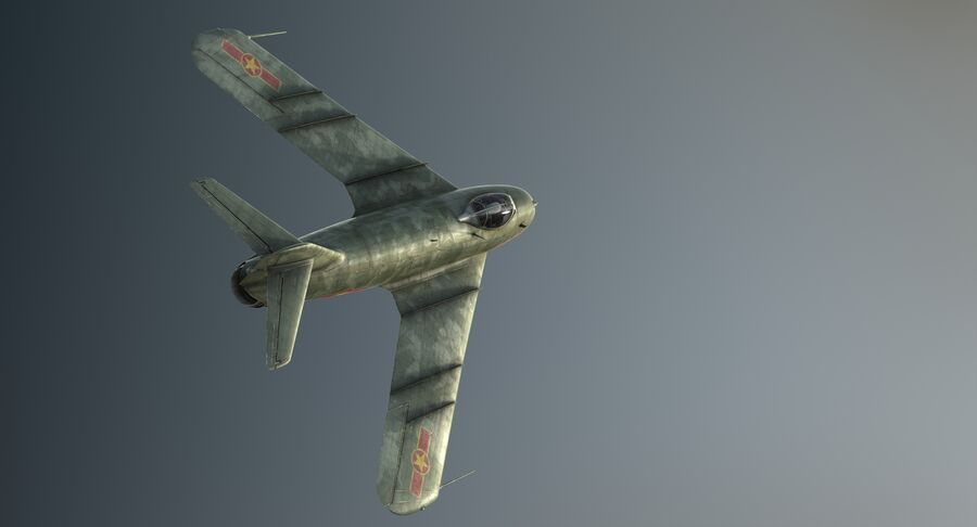 MiG-17F royalty-free 3d model - Preview no. 8