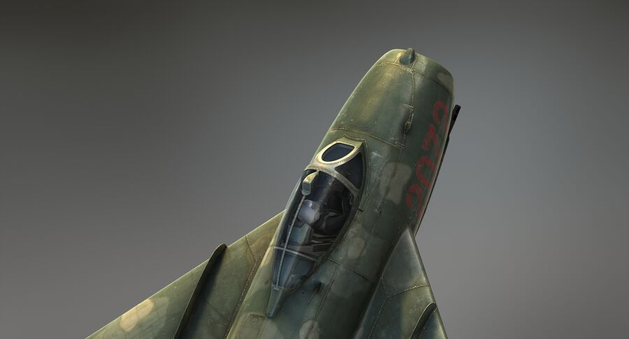 MiG-17F royalty-free 3d model - Preview no. 13