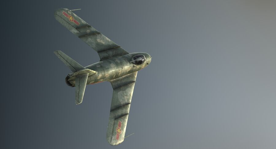 MiG-17F royalty-free 3d model - Preview no. 7