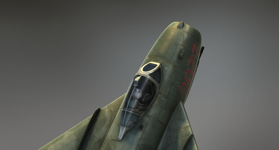 MiG-17F royalty-free 3d model - Preview no. 14