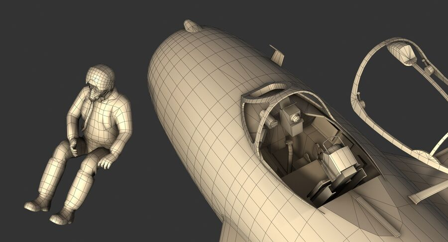 MiG-17F royalty-free 3d model - Preview no. 38