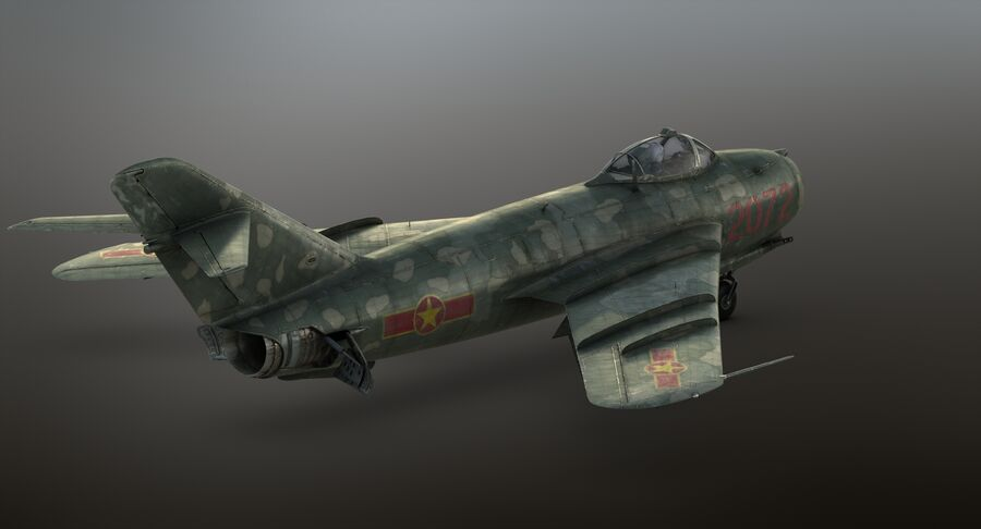 MiG-17F royalty-free 3d model - Preview no. 32