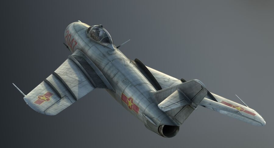MiG-17F royalty-free 3d model - Preview no. 9