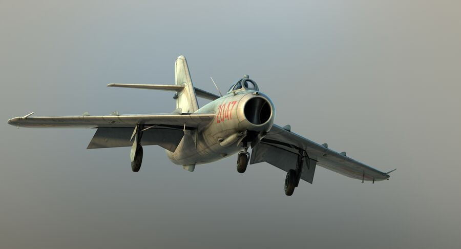 MiG-17F royalty-free 3d model - Preview no. 23
