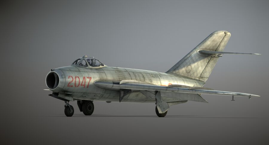 MiG-17F royalty-free 3d model - Preview no. 26