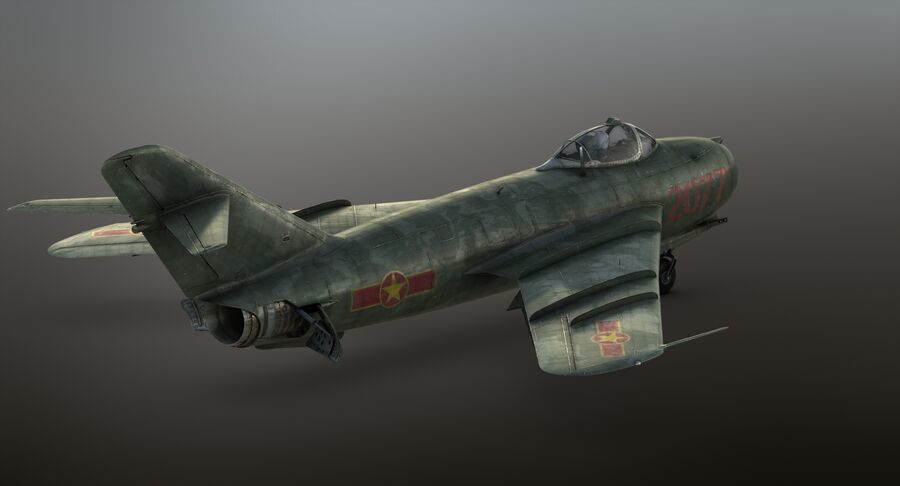 MiG-17F royalty-free 3d model - Preview no. 33